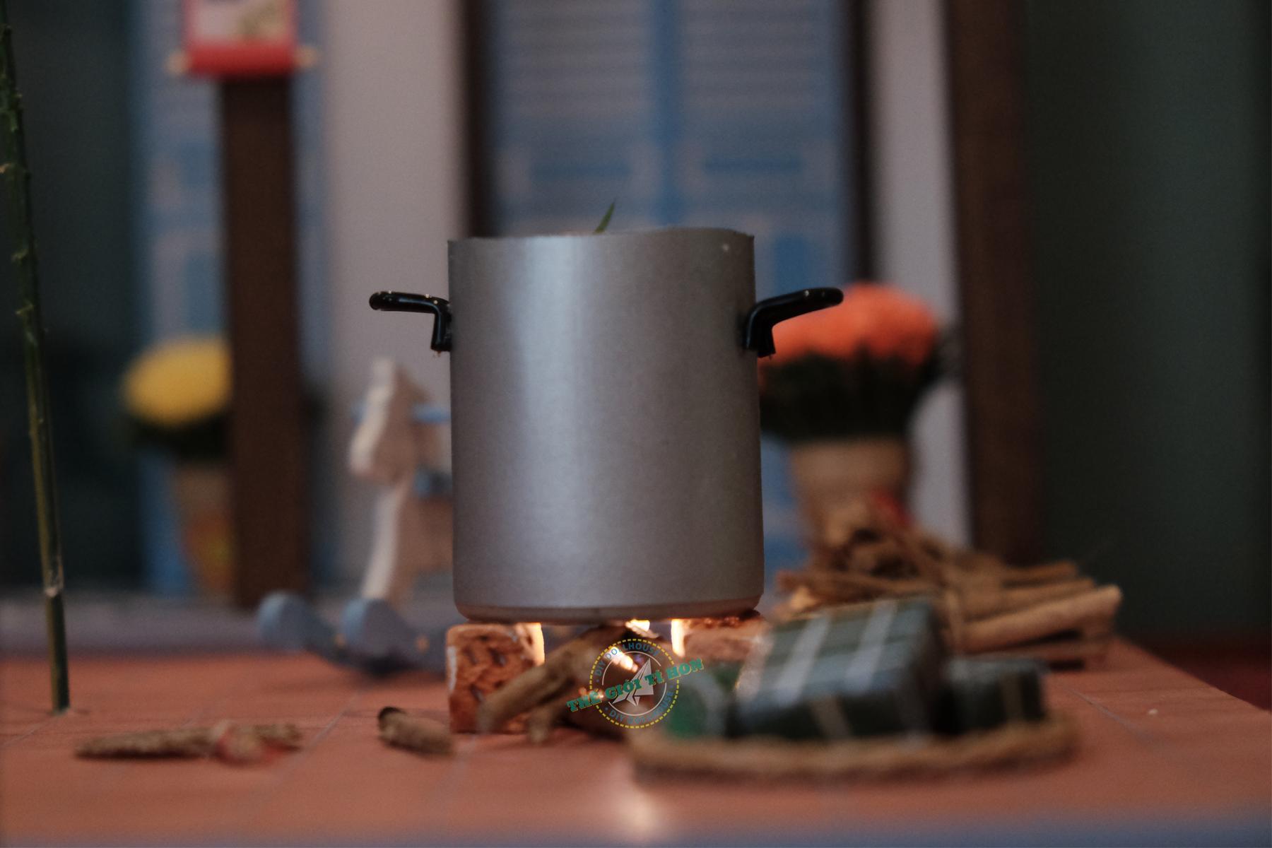 mô hình gỗ diy thu nhỏ tết cổ truyền sài gòn xưa và nay  - Đêm giao thừa - TX05(1)