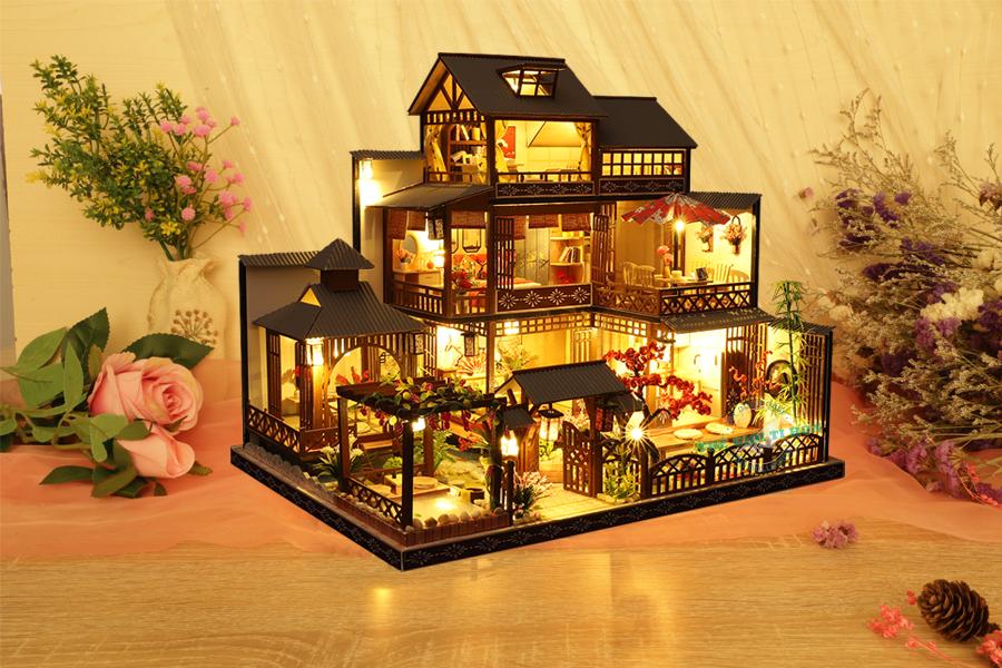 mô hình biệt thự gỗ handmade nhật bản cổ trang p006 (1)
