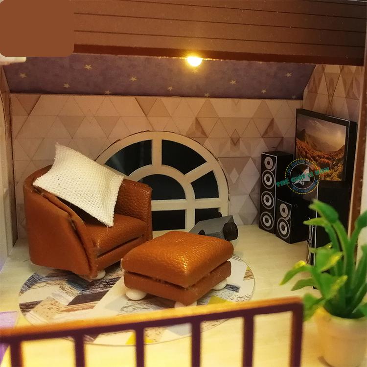 mô hình biệt thự handmade gỗ L901 (1)