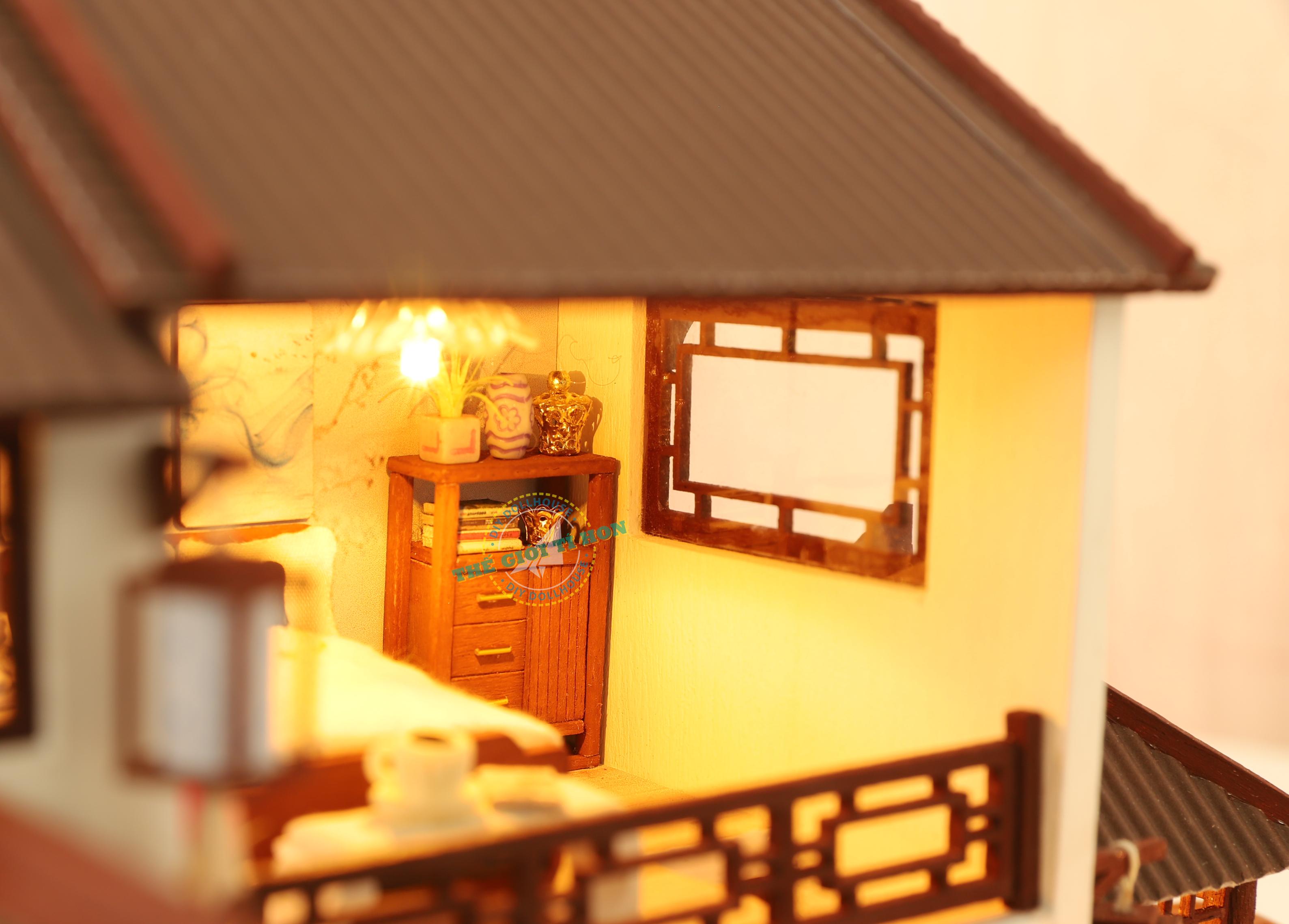 mô hình biệt thự nhà gỗ cổ trang diy p001 (1)
