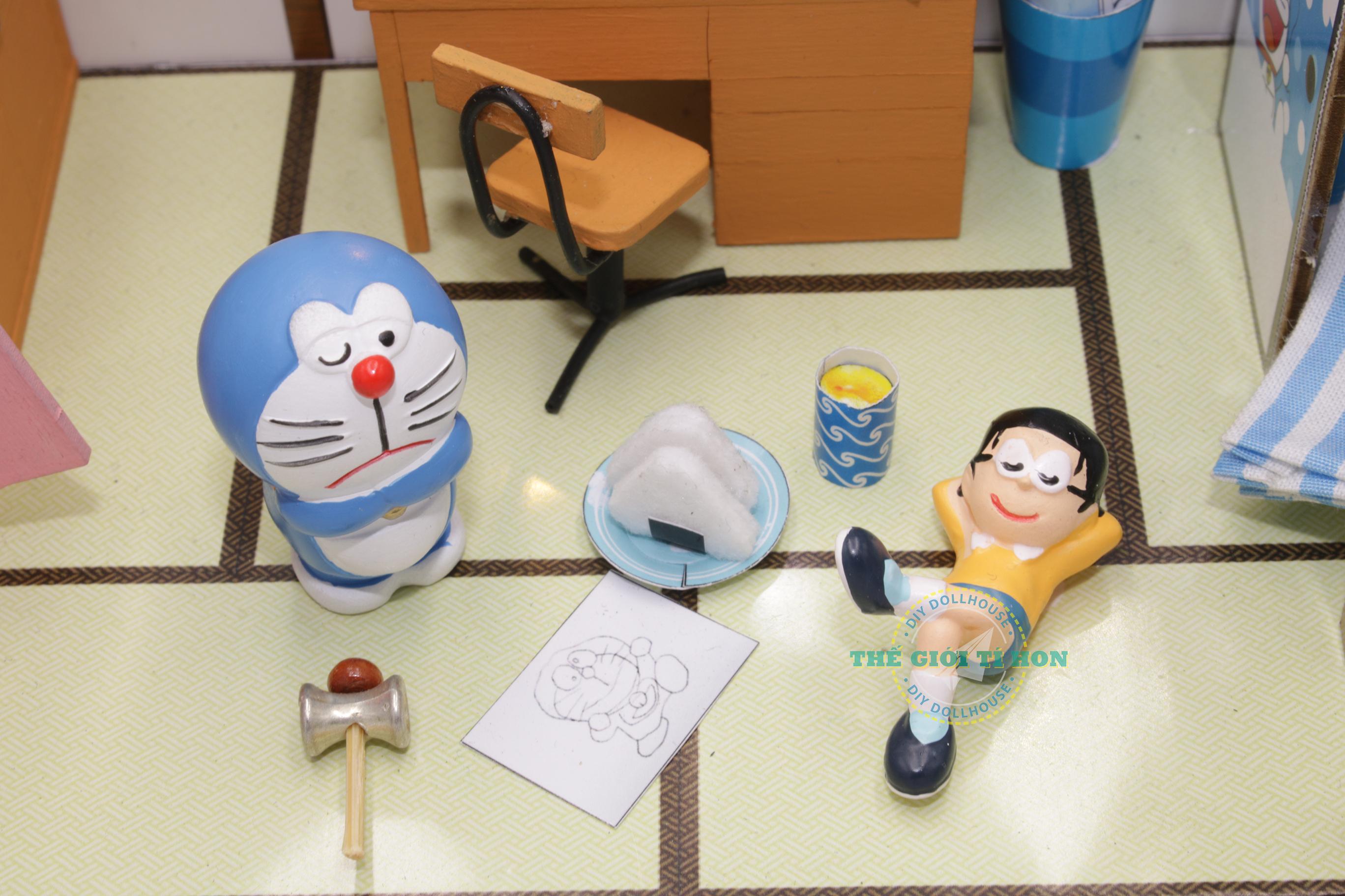 mô hình gỗ diy phòng ngủ tí hon của nobita doraemon tuổi thơ - pr05(14)