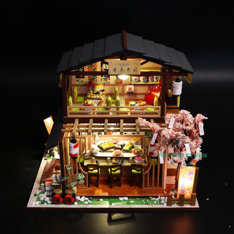 mô hình gỗ diy quán sushi nhật bản M2011 (1)