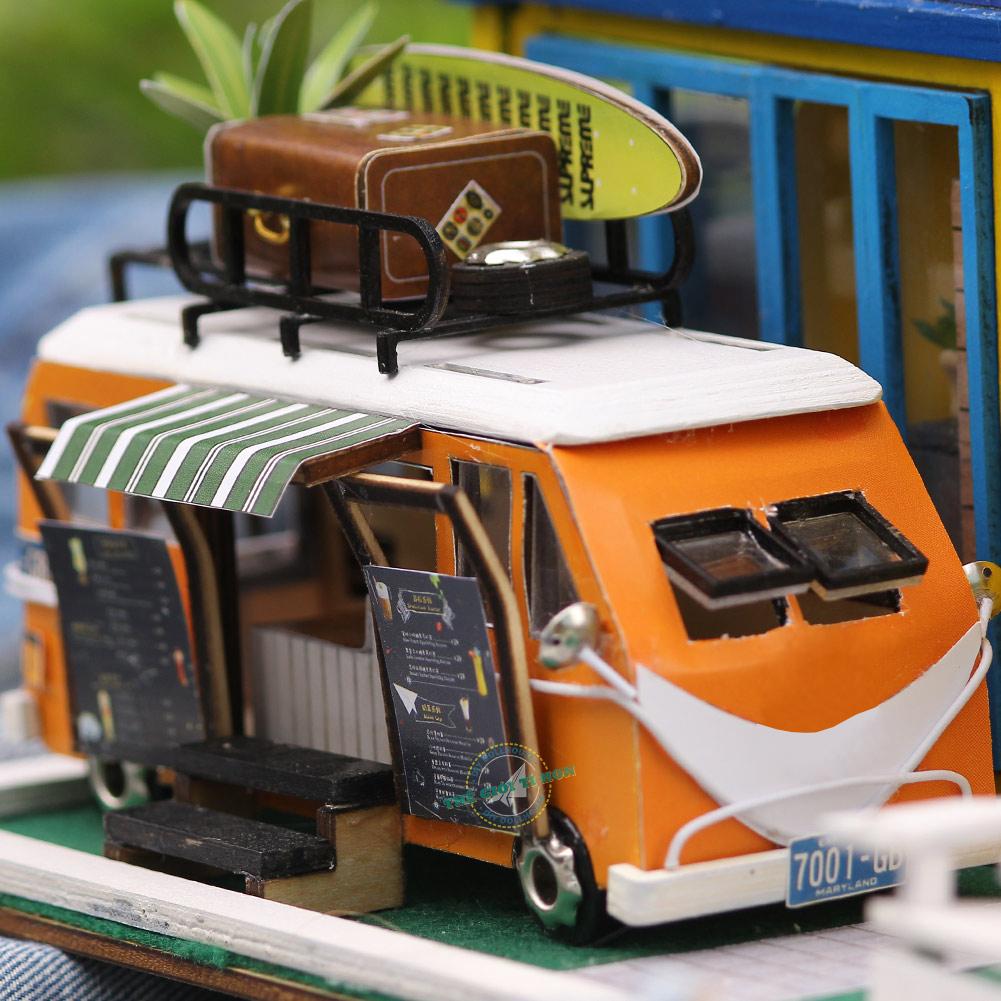 mô hình gỗ handmade quán cà phê tí hon thiết kế độc đáo K039 (1)