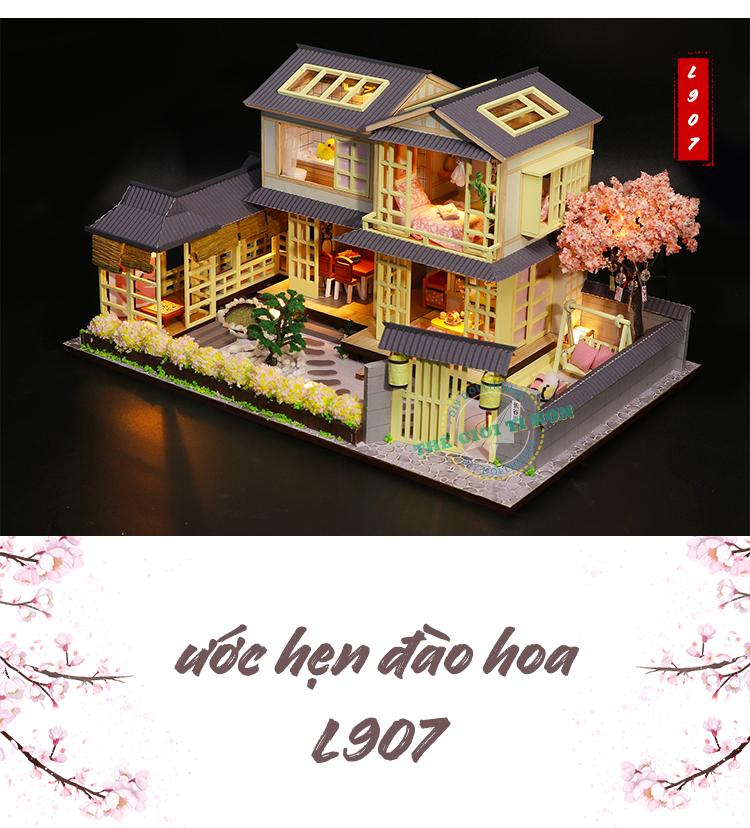mô hình handmade biệt thự tí hon phong cách nhật bản l907 (1)