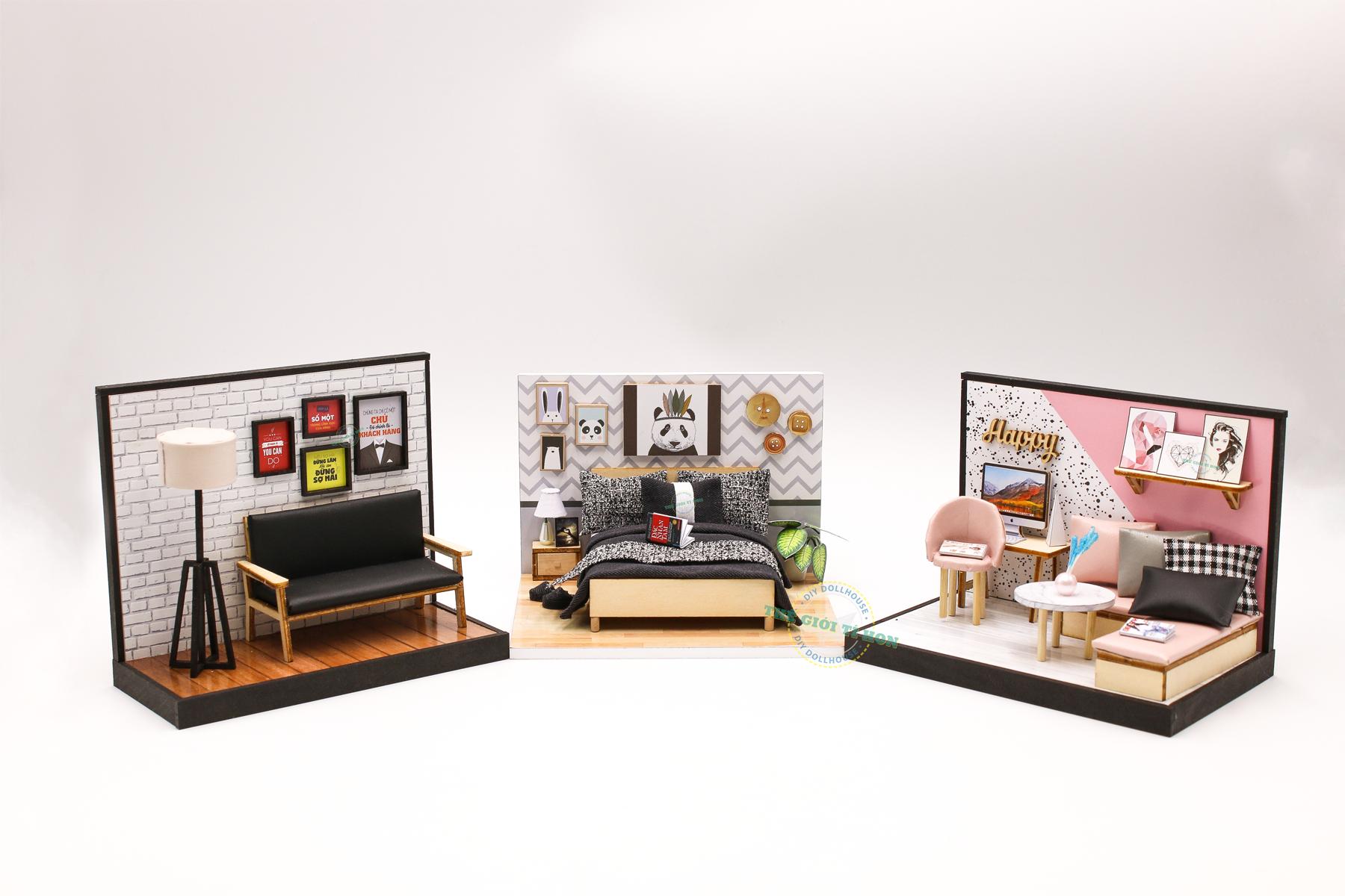 mô hình handmade phòng ngủ tí hon PR01 (3)