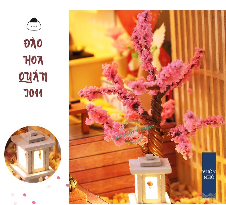 Mô Hình Nhà Handmade Tự Ráp Nhật Bản - Đào Hoa Quán - Mã SP: J011
