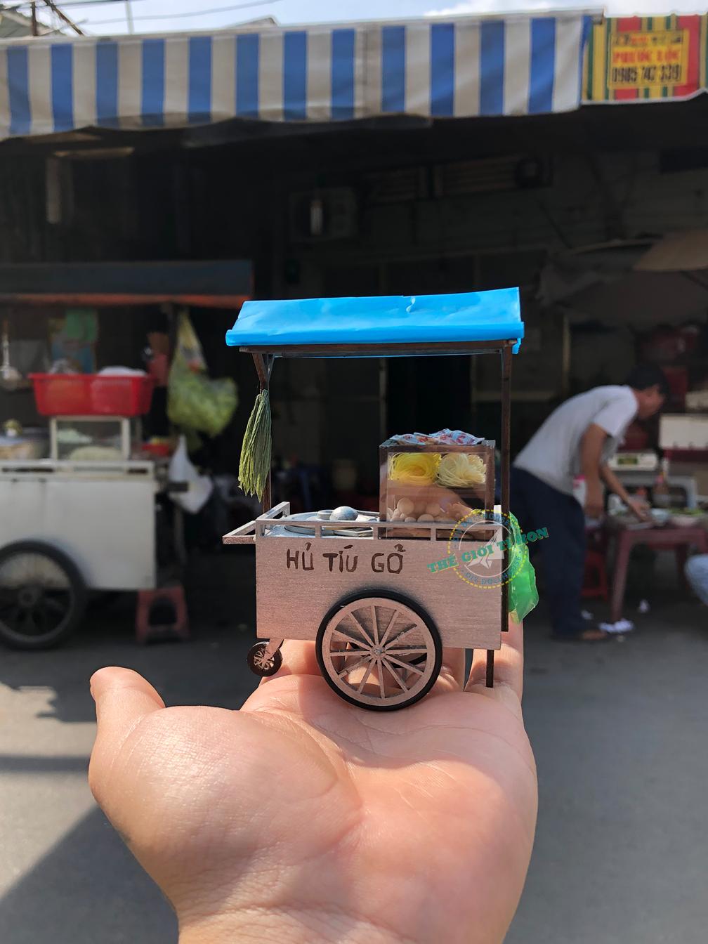 mô hình ký ức Sài Gòn xe hủ tíu gõ thu nhỏ - HR08 (8)