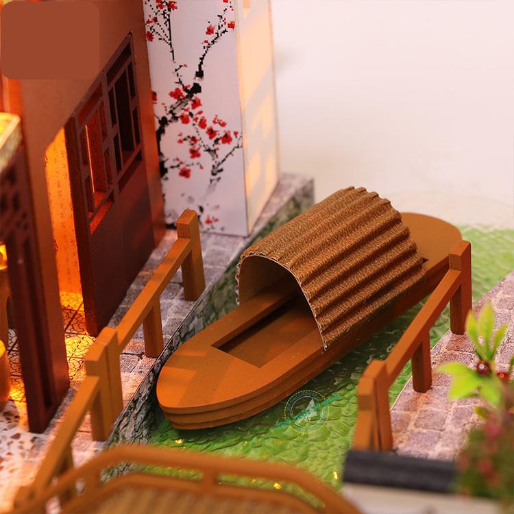 mô hình nhà cổ trang xưa bằng gỗ diy L902 (1)