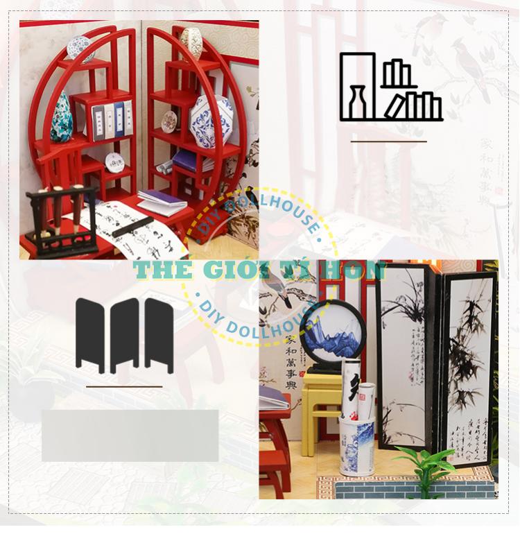 Nhà Gỗ Mô Hình Tí Hon DIY Cổ Trang Nhật Bản - Gió Xuân - Mã SP: S921