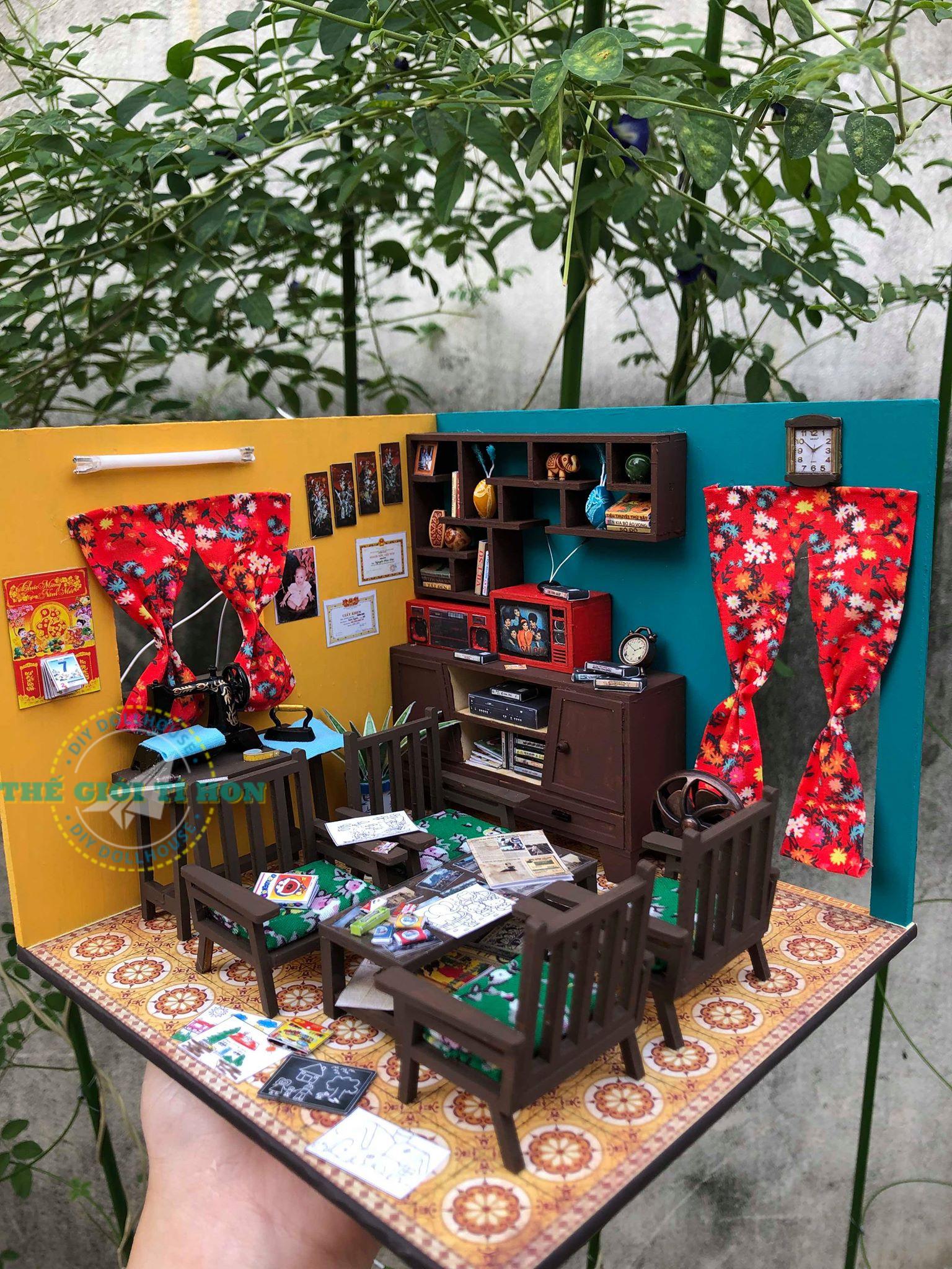 Mô Hình Phòng Khách Xưa DIY Của Đoàn Thu Trang