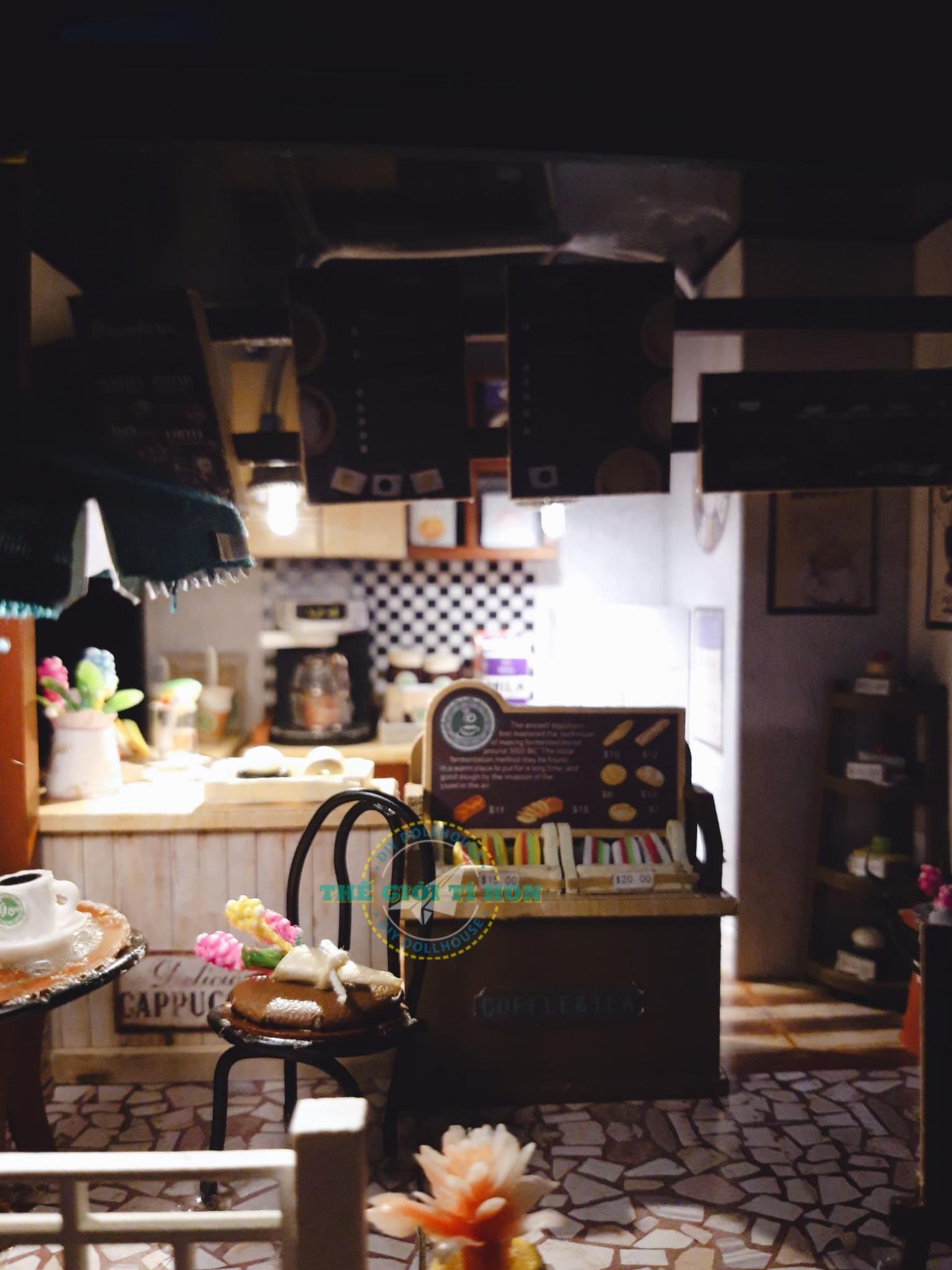 Mô Hình Quán Cafe Nhỏ Xinh Xắn DIY Của Lê Xuyên