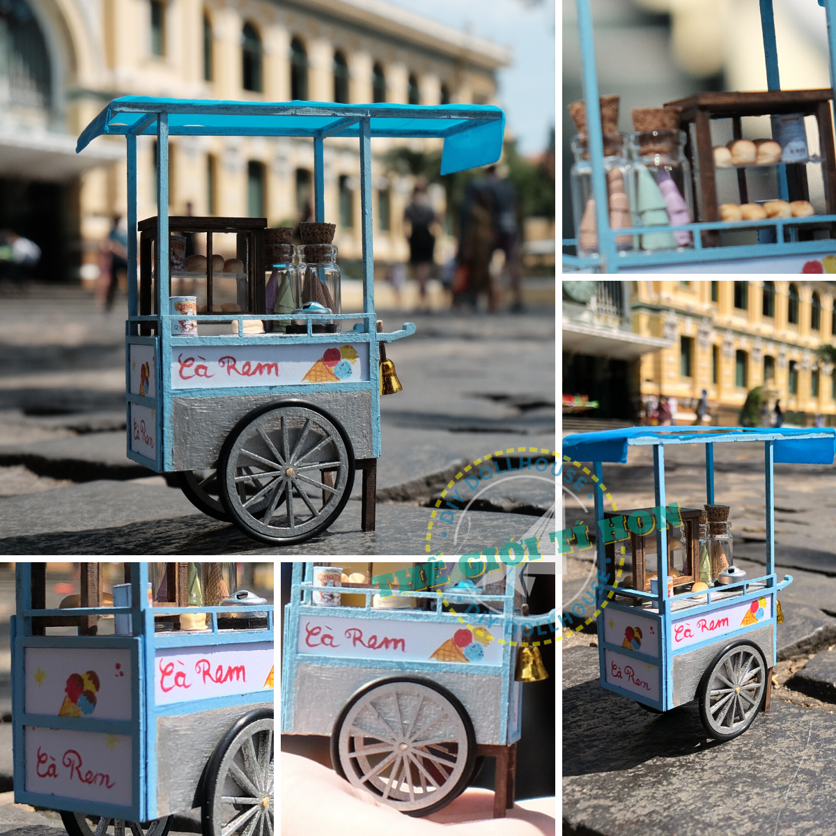 mô hình tí hon xe kem tuổi thơ ở Sài Gòn xưa HR05 (7)