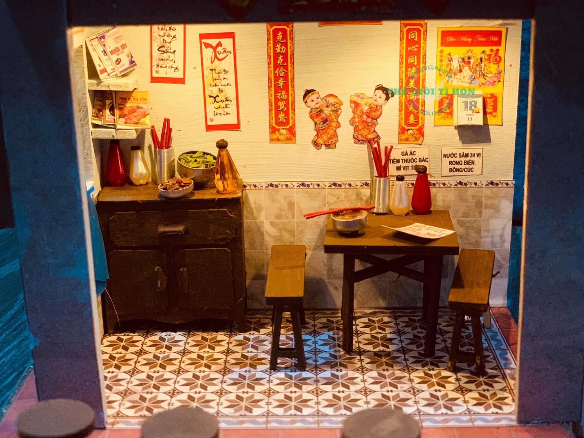 Mô Hình Cửa Hàng Sài Gòn Thu Nhỏ DIY Của Giàu Lưu
