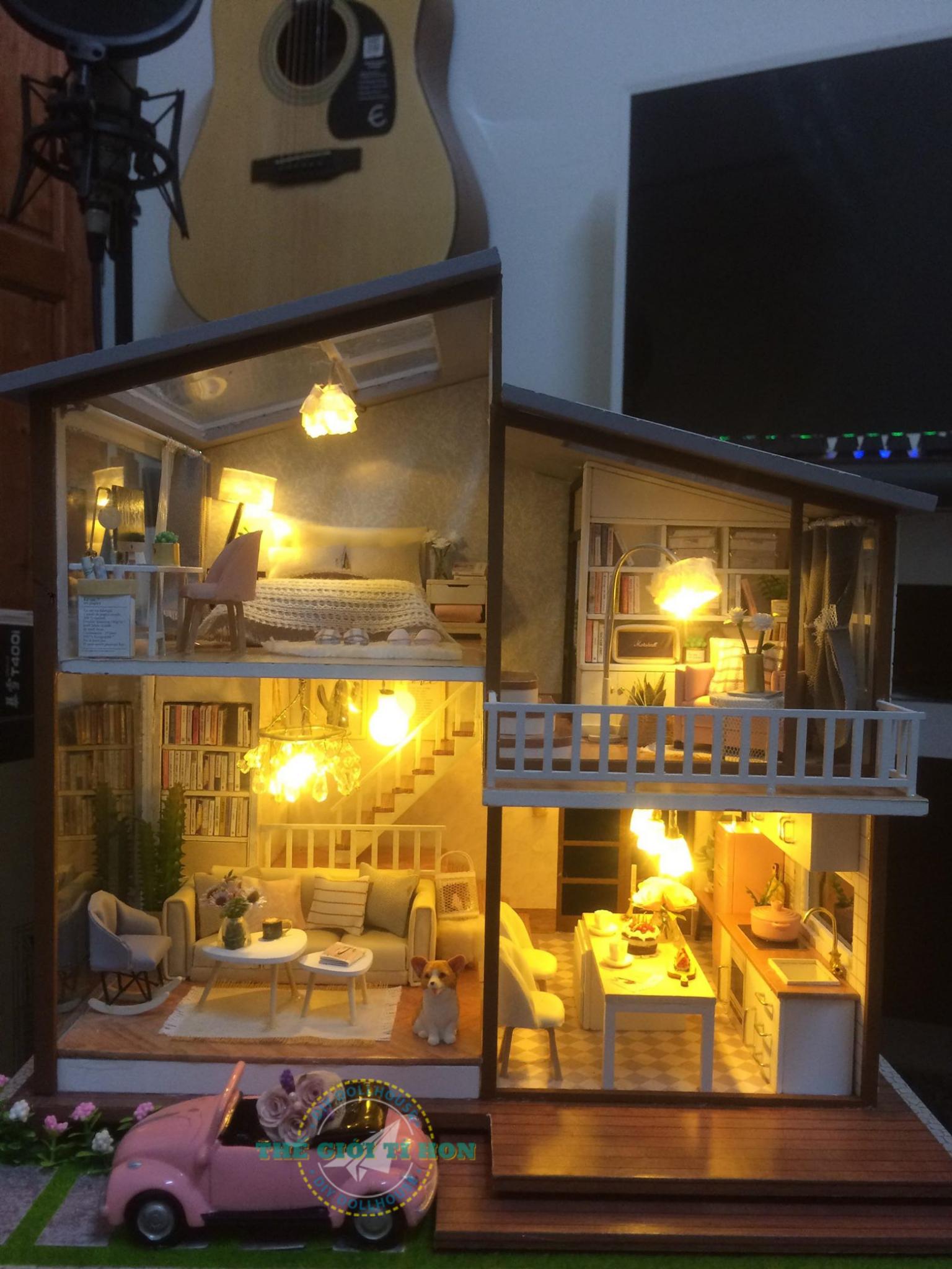 Ngôi Nhà Mô Hình DIY Tự Làm Của Quân