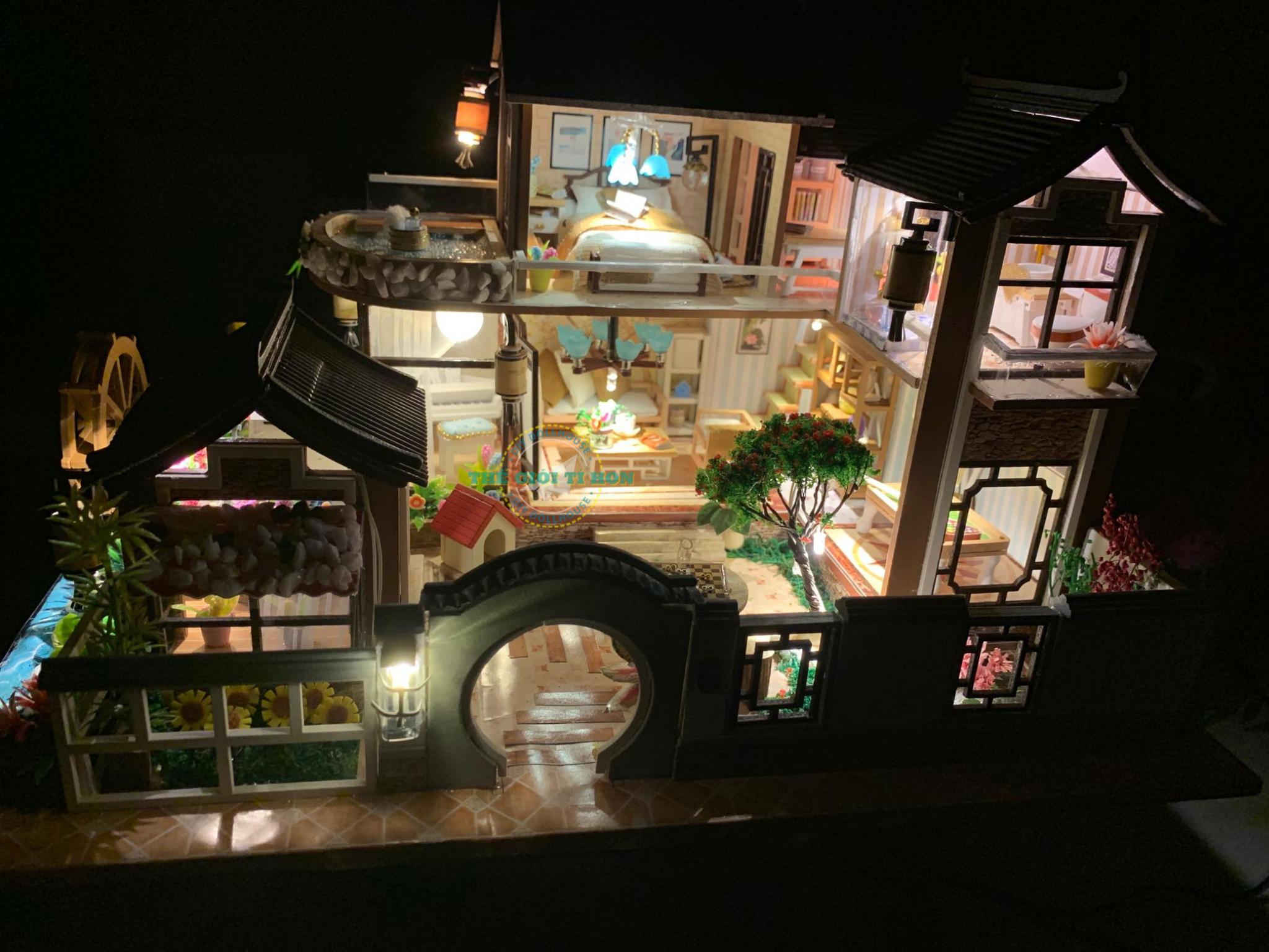 Ngôi Nhà Tí Hon Bằng Gỗ DIY Đẹp Của Quỳnh Phạm