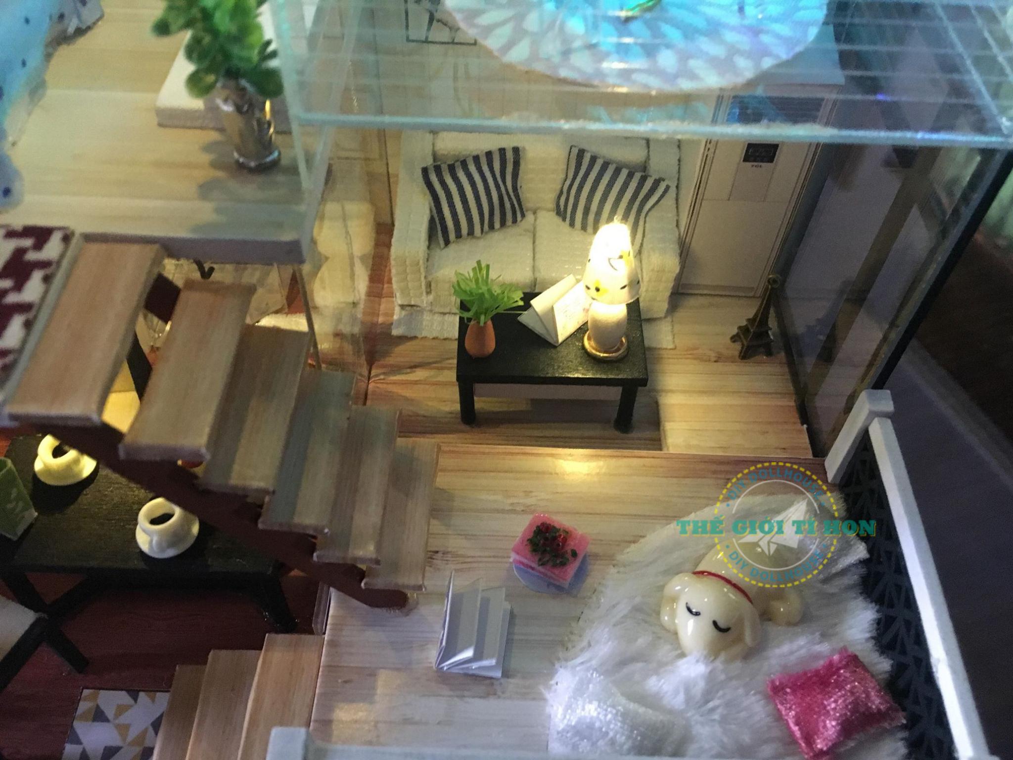 Nhà Gỗ Mô Hình Tí Hon Handmade Của Đỗ Anh Thi
