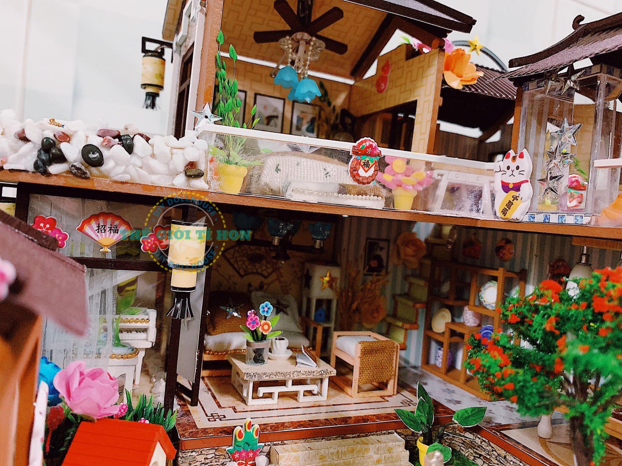 Nhà Mô Hình Cực Đẹp Bằng Gỗ DIY Của Hoàng Ân