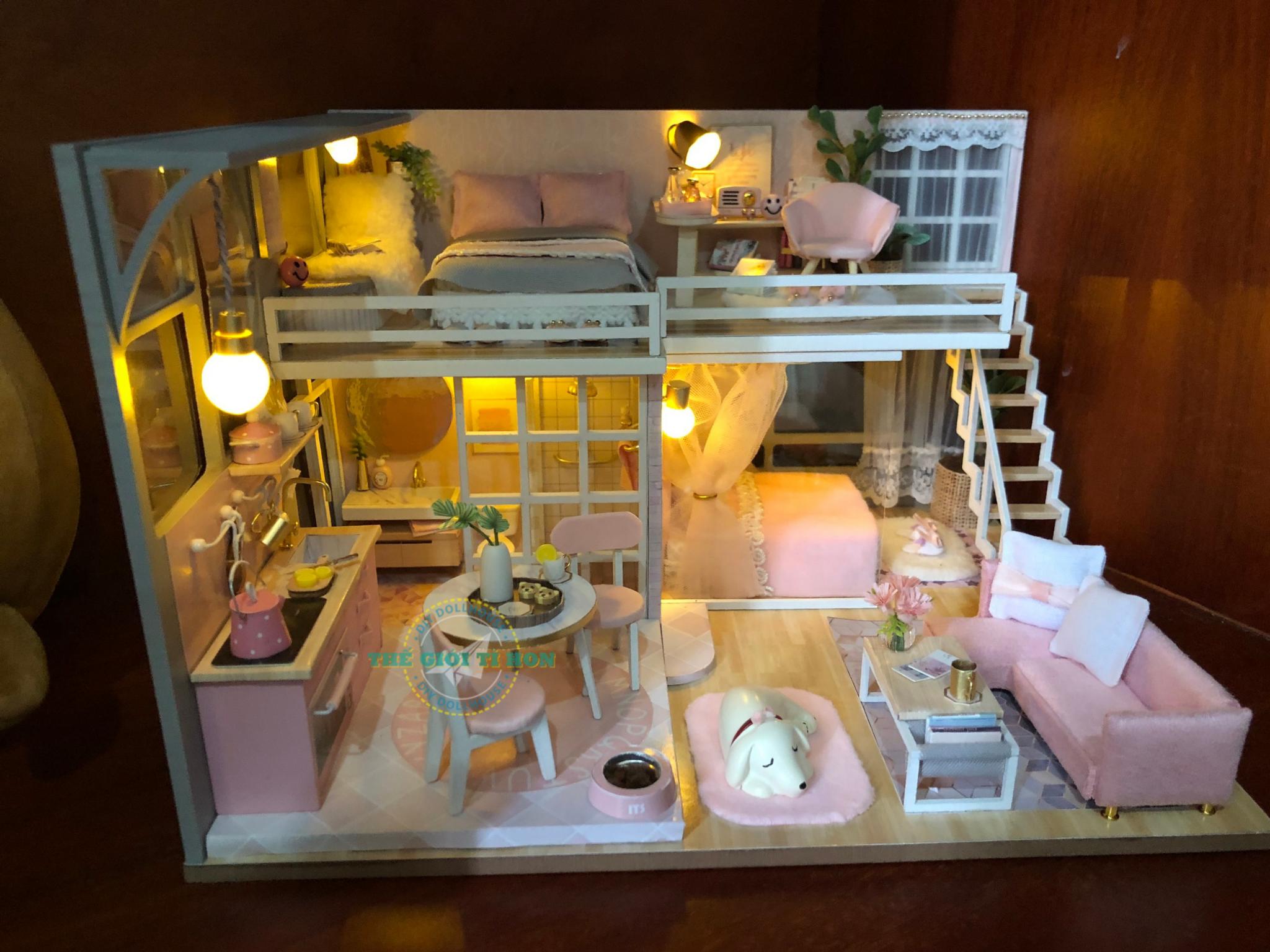 Thành Phẩm Lắp Ráp Ngôi Nhà Gỗ Handmade Của Chị Châu