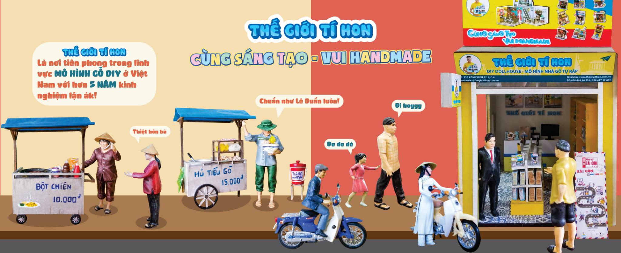 Mô Hình Đường Phố Sài Gòn Xưa Và Nay Tí Hon - Xe Bánh Mỳ - Mã SP: AD02