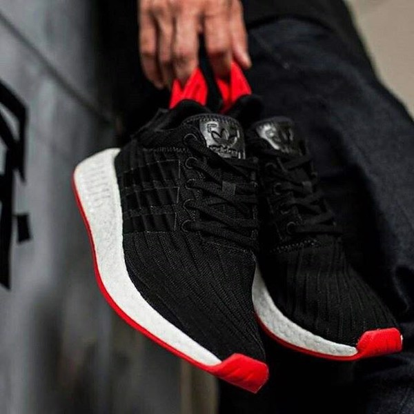best sneakers 0739b 48742 Adidas NMD r2 Black red
