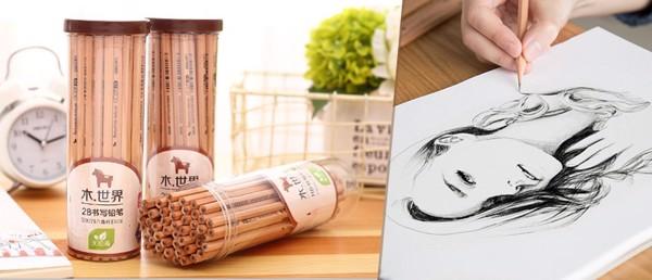 Hộp bút chì gỗ 2B Deli