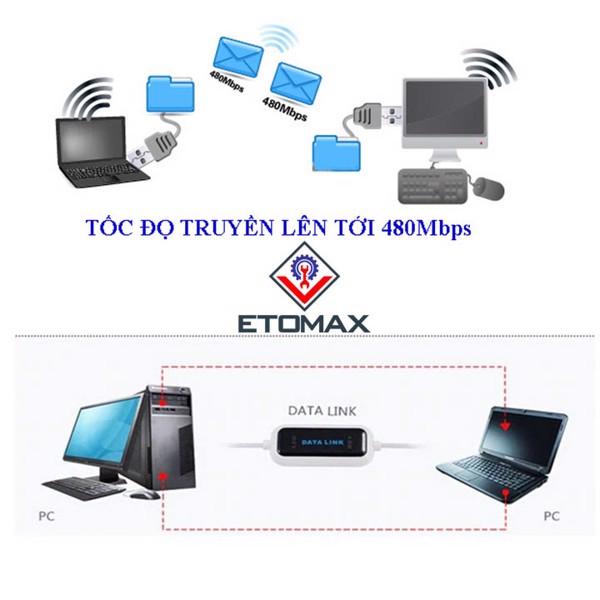 cáp truyền dữ liệu giữa 2 máy tính (pc,laptop) datalink