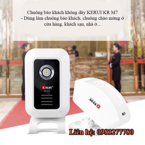 Chuông báo khách chống trộm học lệnh KERUI KR-M7