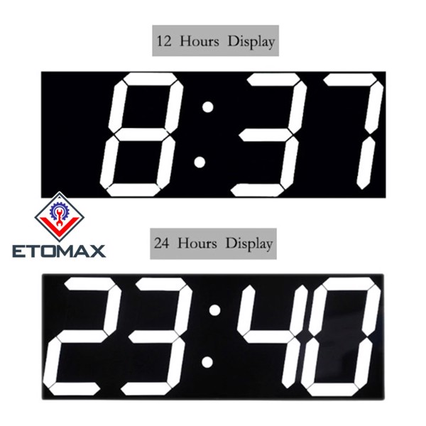 Đồng hồ treo tường điện tử LED 3D điều khiển từ xa