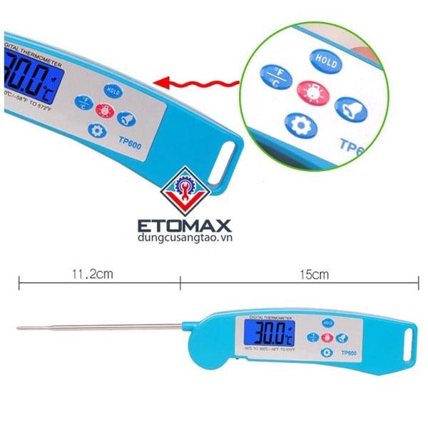Que đo nhiệt độ TP600