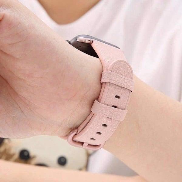 dây da pink sand appke watch