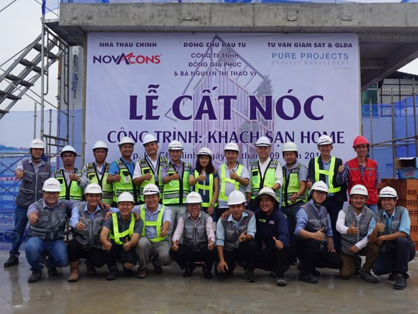 Novacons tops out the Home Hotel project