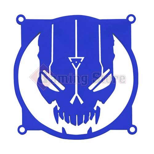 Gaming Store Grill Fan Blacklight Retribution GS10 Blue