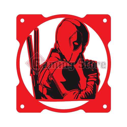 Gaming Store Grill Fan Deadpool GS18 Red