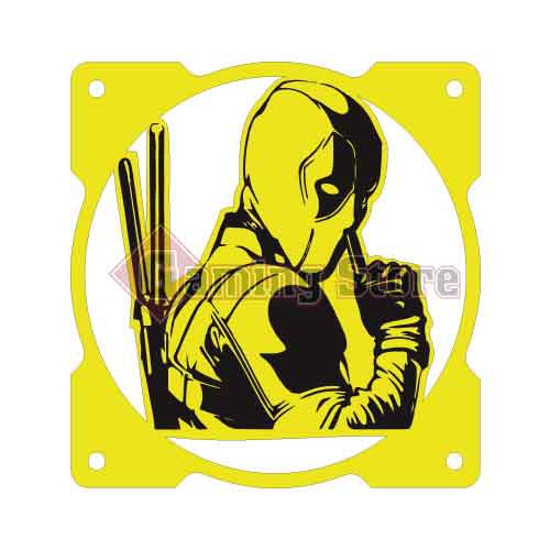 Gaming Store Grill Fan Deadpool GS18 Yellow