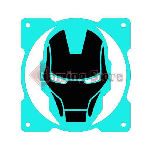 Gaming Store Grill Fan Iron Man GS21 Cyan