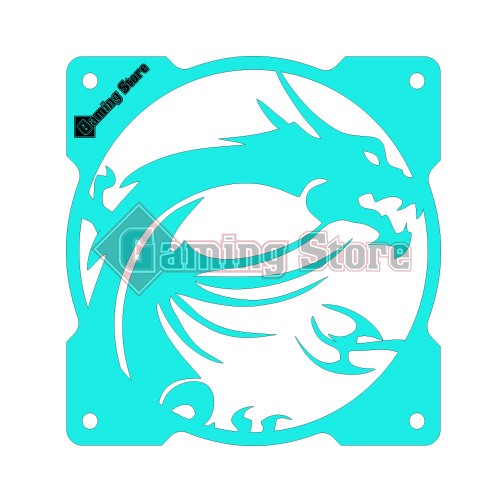 Gaming Store Grill Fan MSI Dragon GS29 Cyan