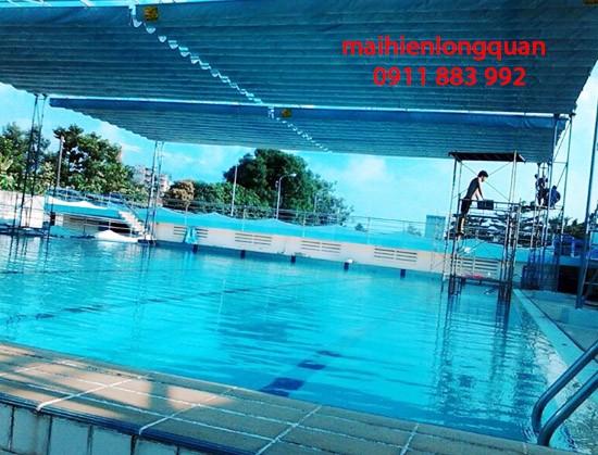 Mái hiên di động cho hồ bơi