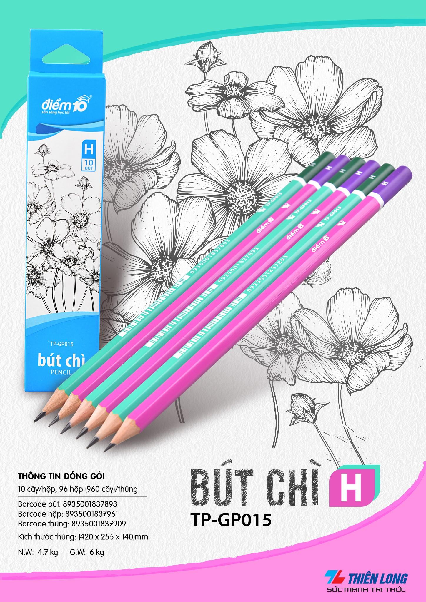 Bút chì gỗ Điểm 10 TP-GP015