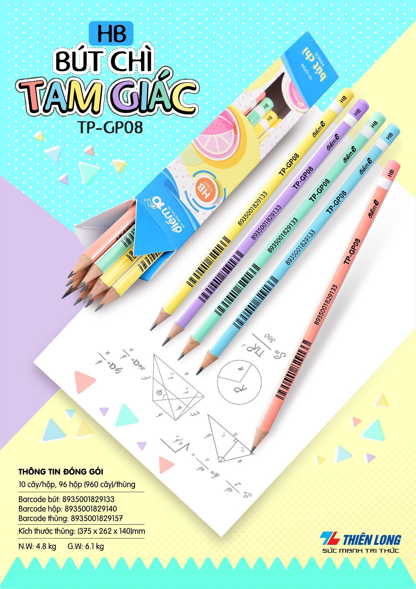 Bút chì gỗ Điểm 10 TP-GP08