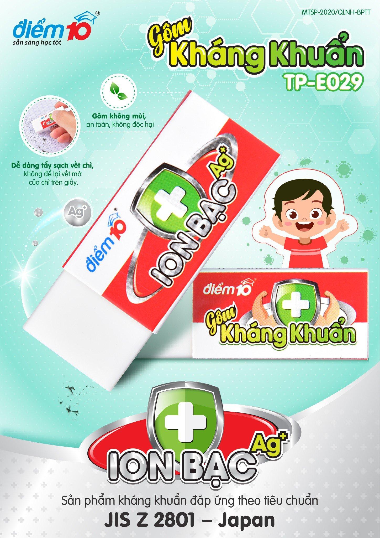 Gôm kháng khuẩn Điểm 10 TP-E029