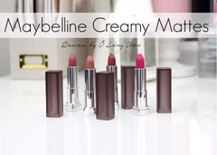 REVIEW | Son Maybelline Color Sensational Creamy Matte Lipsticks