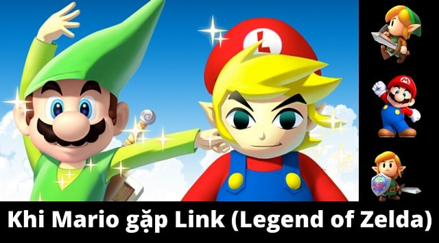 Những lần ghé thăm thú vị giữa Mario và Zelda