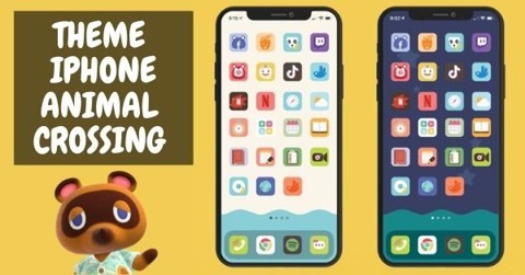 Theme Animal Crossing cho điện thoại iPhone iOS 14 & Android