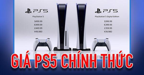 Giá bán PS5 chính thức, ngày phát hành và cấu hình chi tiết