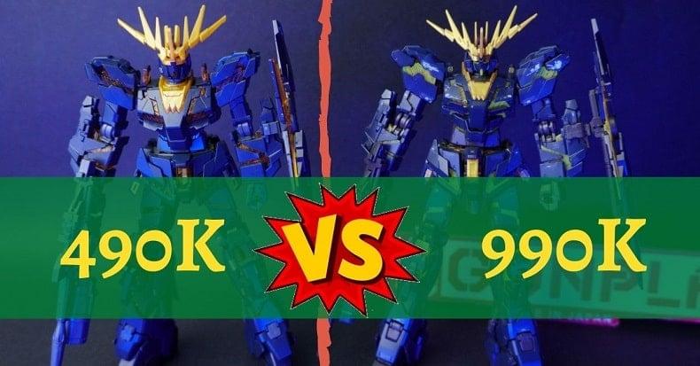 So sánh mô hình HG và RG Unicorn Gundam 02 Banshee Norn, đắt xắt ra miếng?