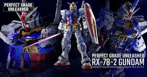 Perfect Grade Unleashed RX-78-2 Gundam thể hiện đẳng cấp Gunpla mới
