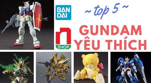 Top 5 mô hình lắp ráp Gundam được ưa thích chọn mua nhiều nhất tháng