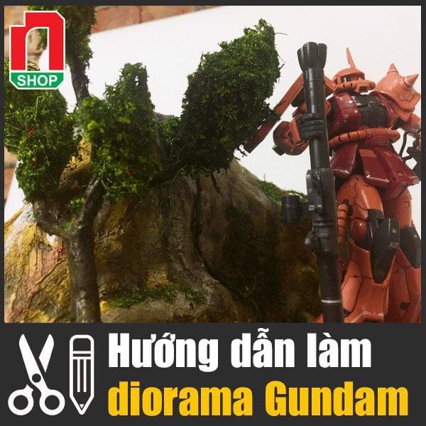 4 bước tạo diorama Gundam đơn giản