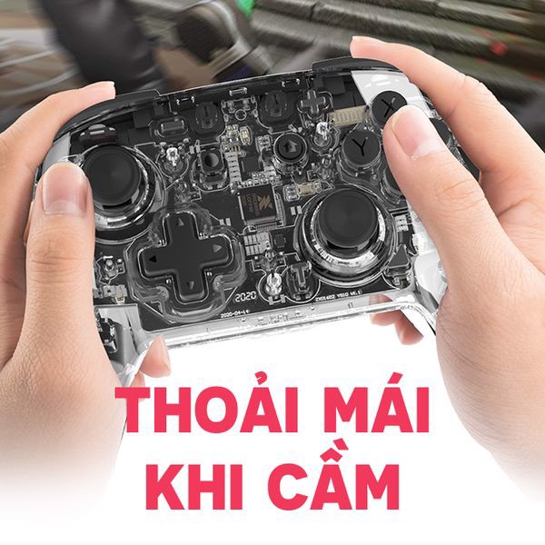 Tay cầm Pro Controller trong suốt IINE PMW Nintendo Switch chất lượng cao