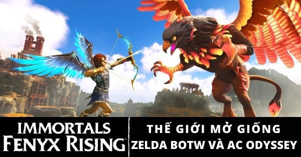 Game thế giới mở open world Immortals Fenyx Rising Nintendo Switch PS5 PS4 Xbox Series